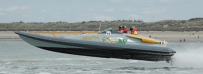 Birretta tijdens de Belgian Offshore in Zeebrugge