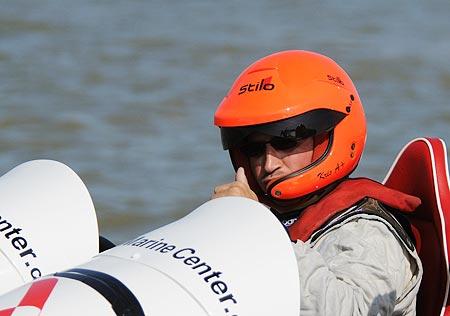 Kris Deraedt tijdens de Belgian Offshore Challenge 2008