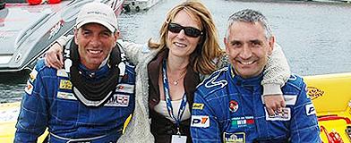v.l.n.r. Benjamin van Riet, Jackie Hunt en Mike Shelton (tijdens de P1 2008)