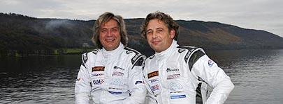 Searex team met links Sigfried Greve en rechts Gino Passchier