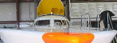 Fountain powerboat voor het Belgische P1-team Colpin-Hemelaer