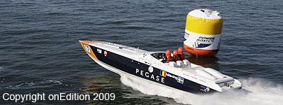 Spirit of Belgium in actie tijdens de P1 in Zweden 2009