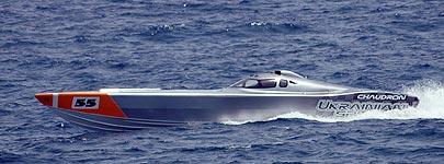 Ukrainian Spirit Evolution powerboat