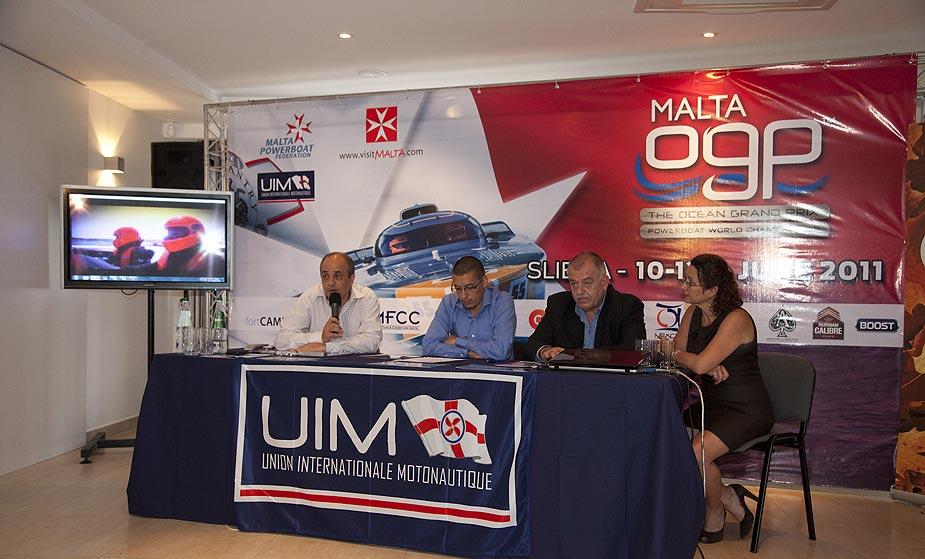 2011 Ocean Grand Prix World Championship Malta - Press conference