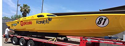 Italian team RG87 is preparing their impressive powerboat