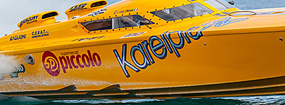 Napoli based powerboat team RG 87 Karelpiu